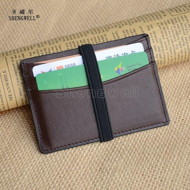 Credit Card Holder Men Wallet Ultra Slim Genuine Cow