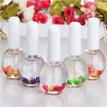 Nail Art Nutritional Cuticle Oil Fresh Flower Flavor Polish Care Soften Tool Random Color
