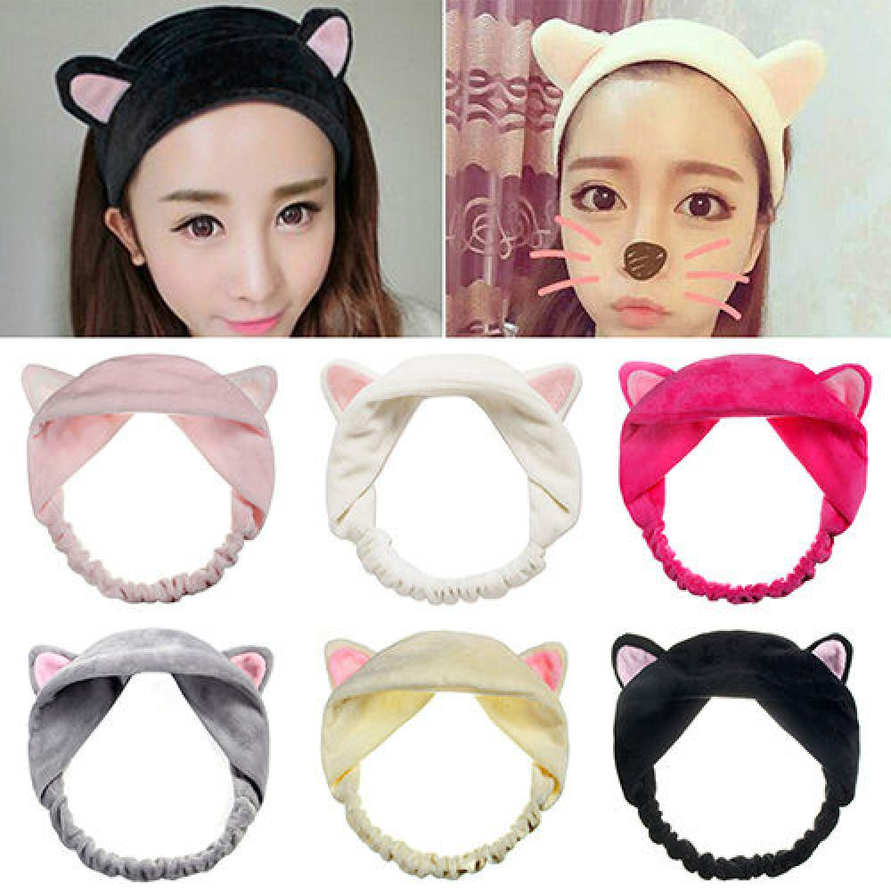 1pc Fashion Cute Lady Girl Elastic Grail Cat Ears Hair Braiders For Washing Face Headdress Women Hair Accessories Party Beauty & Health