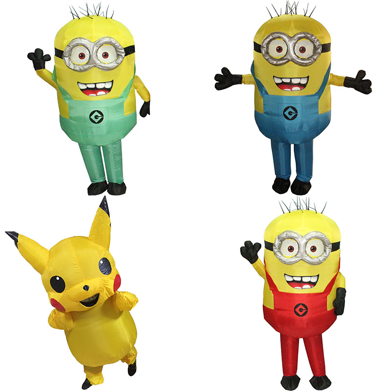 Purim Carnival Parade Costumes Minions Inflatable Adult Fancy Dress Pikachu Costume Halloween Costume Minion Costume Blue Red