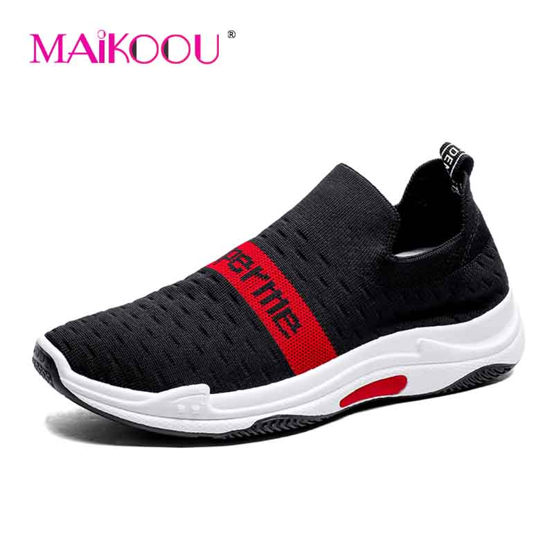 ... lightweight outdoor Sneakers walkingshoes printing MAIKOOU2018 Superme  breathable summer fashion casual woven fly mesh shoes new ... b77e916b3f5e