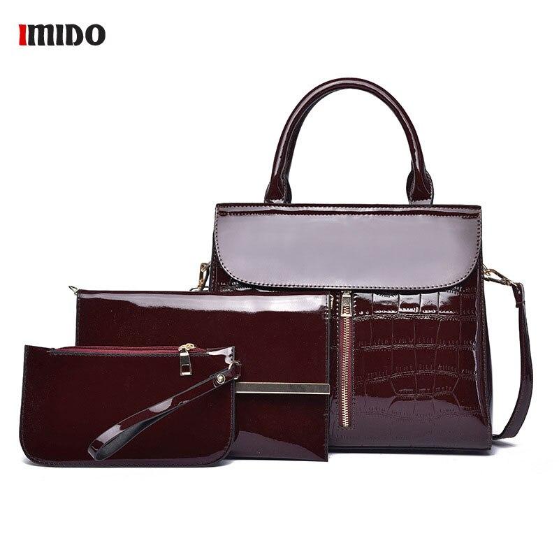 3 pièces femmes sac à main ensembles haut en cuir poignée grande capacité sac à main mode sac à bandoulière dames PU cuir sac à bandoulière Bolsas