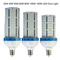 50pcs/lot Free DHL/FedEx/UPS shipping 50pcs 80W E27/40 Led Corn Light,LED High Bay Light with 3 Year Warranty