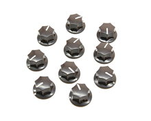 KAISH 10x Brown Small Size MXR Style Skirted AMP Knob Effects Pedal Knobs Brass Insert