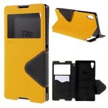Рев Корея Капа для Sony Xperia Z3 + E6553 и Z4 и Z3 + двойной E6533 чехол Вид из окна кожа дневник чехол для Sony Xperia Z3 + Корпуса