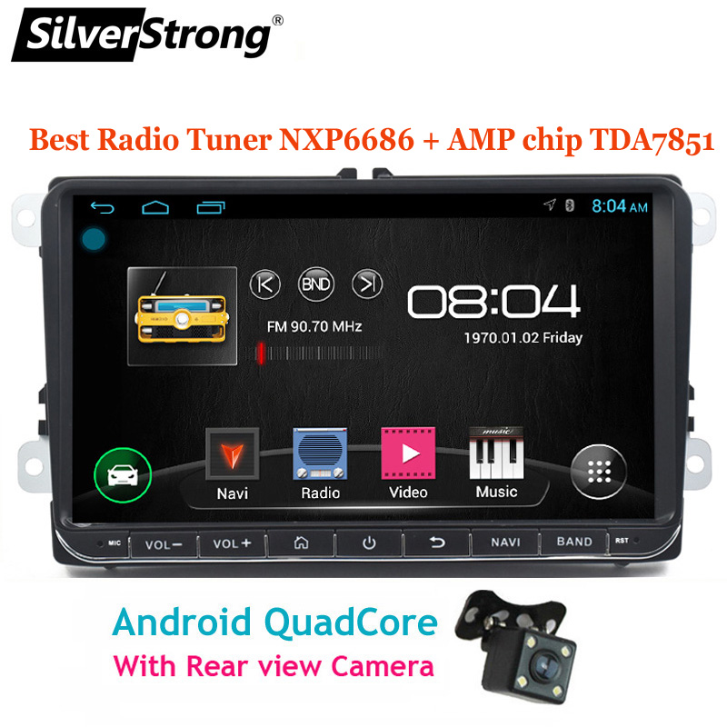 SilverStrong Android9 1 9inch Car DVD GPS For Volkswagen Passat B6 B7 Radio Stereo Radio GPS