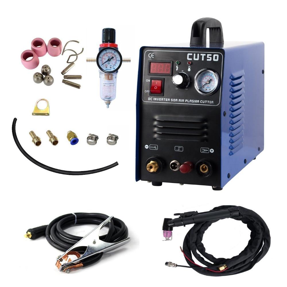 CUT 50 Plasma Cutter Pilot Arc 50A CNC Plasma Cutter 220V  Cutting