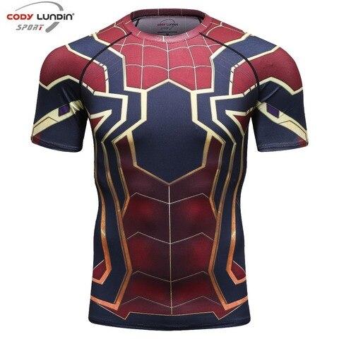 new 3D Iron Spiderman T-shirt Men Marvel Superhero Men T-Shirt Compression  Short Sleeve Brand Fitness Tops & Tees Pakistan