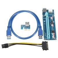 Wholesale 6pcs USB 3 0 PCI E Express 1X 4x 8x 16x Extender Riser Adapter Card