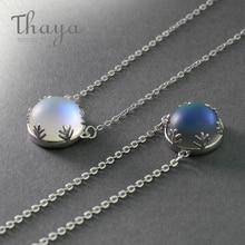 Thaya 55cm Aurora Pendant Necklace Halo Crystal Gemstone s925 Silver Scale Light for Women Elegant Jewelry Gift