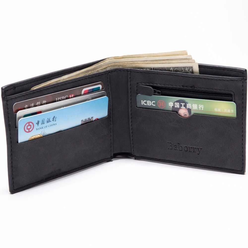 7309d8f895c6 ... С сумкой для монет на молнии Новые мужские кошельки мужские s кошелек  маленькие Деньги Кошельки новый ...