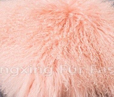 CX-G-B-51C настоящий монгольский овечка меховой жилет женский сексуальный короткий жилет зимнее пальто Меховая куртка - Цвет: pink