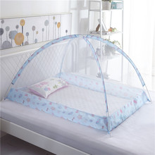 Portable Baby Bedding Crib Mosquito Net Infant Cradle Baby Bed Tent Folding Crib Netting Mosquito Mesh for 0-3 Years 120*80cm foldable pine wood baby crib with 4 lockable wheels no paint baby rocking cradle portable infant cot with mosquito net
