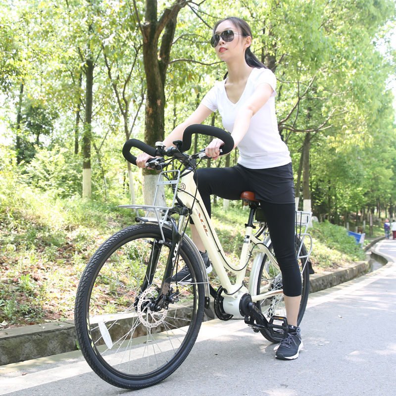 26inch electric bicycle 36V Electric travel bike PAS rang 70 80km Mid home drive motor Sports fitness Ebike hybrid mode pure ele