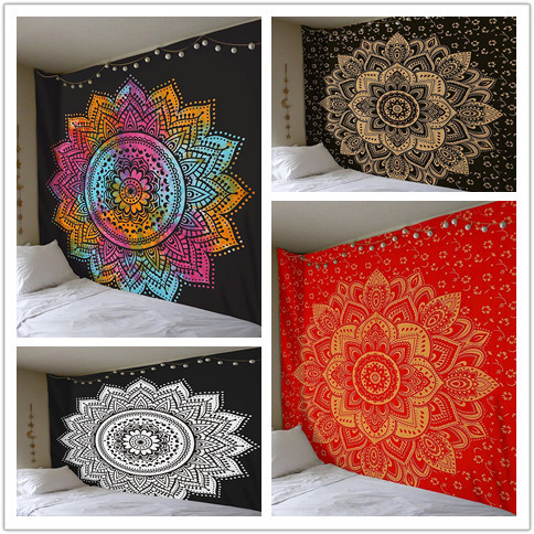BeddingOutlet Mandala Tapestry Crystal Arrays Beautiful Flora Wall Art Tapestry 200cmx150cm Indian Sheet belgium New Beach towel