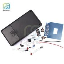 Kit de bricolaje de Detector de Metal, placa del Sensor sin contacto, pieza electrónica con carcasa, CC 3V-5V