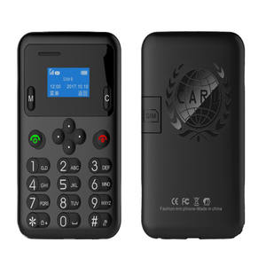 AEKU A6 MINI Credit Card Mobile Phone 0.96 Inch Small Screen Pocket Mini Cellphone