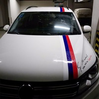 15cm*25M Auto Car Hood Roof Fender Mix Colors Power Flag Stripe Sticker Decal Wrap Sticker