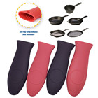 4PCS Silicone Hot Handle Cover / Heat Protecting Silicone Hot Handle Holder
