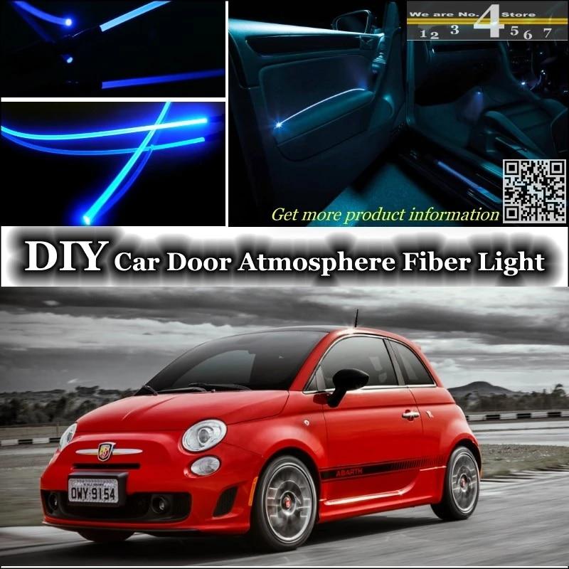 For Fiat Abarth 500 500c Interior Ambient Light Tuning Atmosphere Fiber Optic Band Lights Inside Door Panel Illumination Refit Refitting Aliexpress