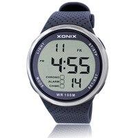 2017 الأعلى العلامة التجارية xonix صدمات للماء الغوص ووتش رجال الرياضة السباحة الساعات 100 متر مقاومة لل السباحة الغوص ساعة اليد