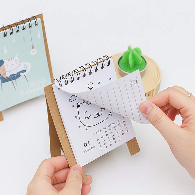 Peachy Us 1 62 2019 Cute Cartoon Animals Series Calendars Mini Table Desk Calendar Office Work Learning Schedule Periodic Planner Stationery In Calendar Beutiful Home Inspiration Truamahrainfo
