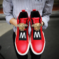 Men's designer shoes men high top casual shoes moccasins lace up high platform men's shoes