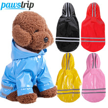 S-XL Pet Dog Rain Coat Waterproof Dog Jacket PU Raincoat For Dogs Outdoor Pet Rain Coat Small Dog Clothes Rainwear Pomeranian цена