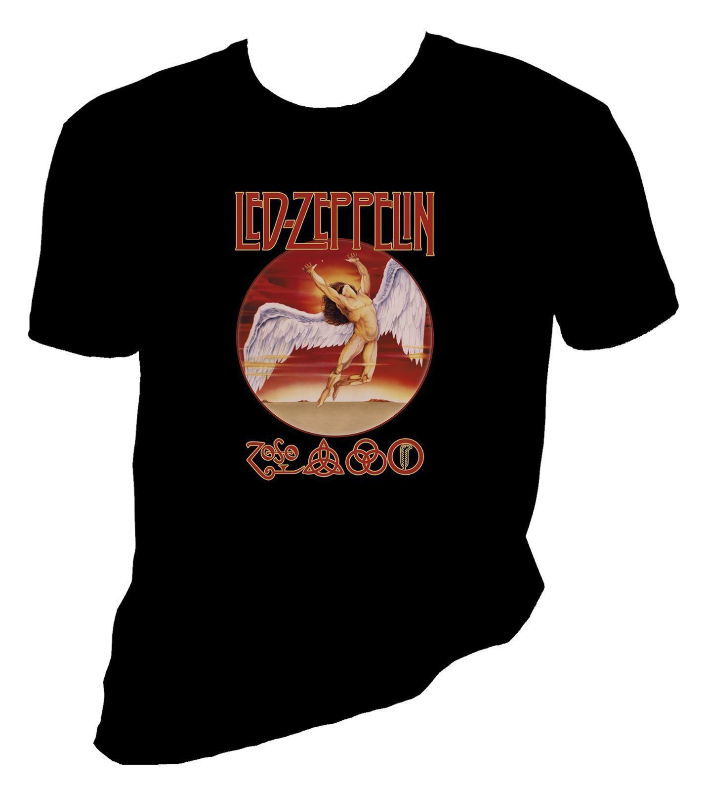 Led Zeppelin Swan Song Hipster Tees Summer Mens T Shirt