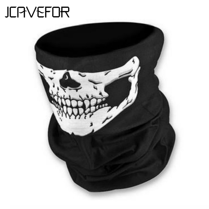 1 Piece Motorcycle SKULL Ghost Face Windproof Mask Outdoor Sports Warm Ski Caps Bicyle Bike Balaclavas Scarf balaclava(China)