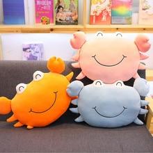 New Creative Cute Crab Soft Plush Toys Stuffed Animal Doll Toy Soft Plush Pillow Cushion Children Birthday Gift стоимость
