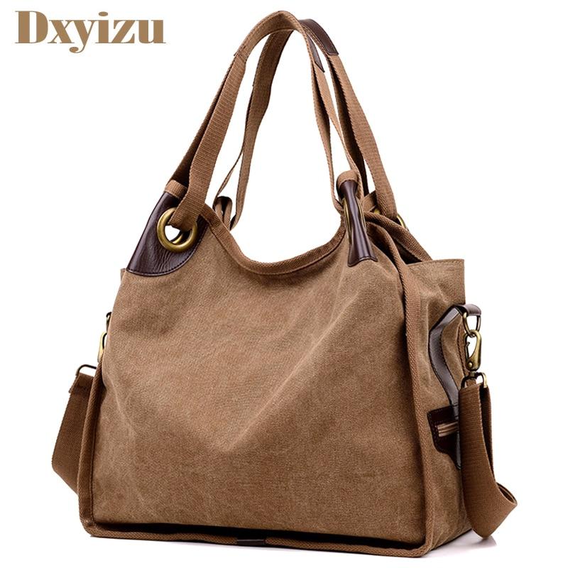 Women Handbag Tote Shoulder-Bags Canvas Hobos Large-Capacity Female Casual High-Quality