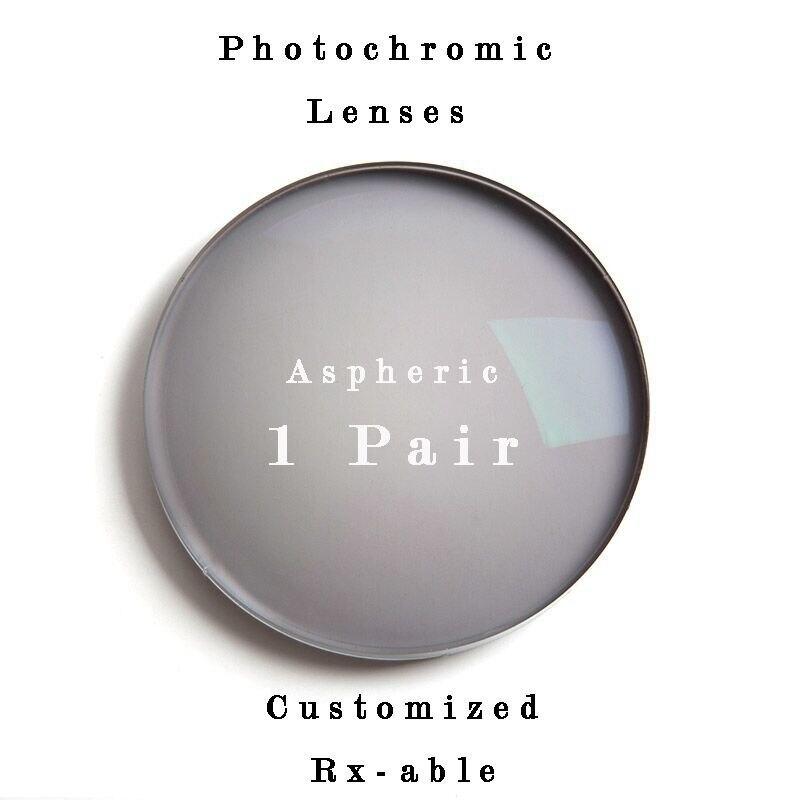 1.61 photochromic Gray or brown progressive lens SPH range -6.00~+5.50 Max CLY -4.00 optical lenses for eyewear