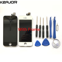 For Apple IPhone 5 LCD Display Touch Screen With Frame Replacement For Apple IPhone 5 640X1136