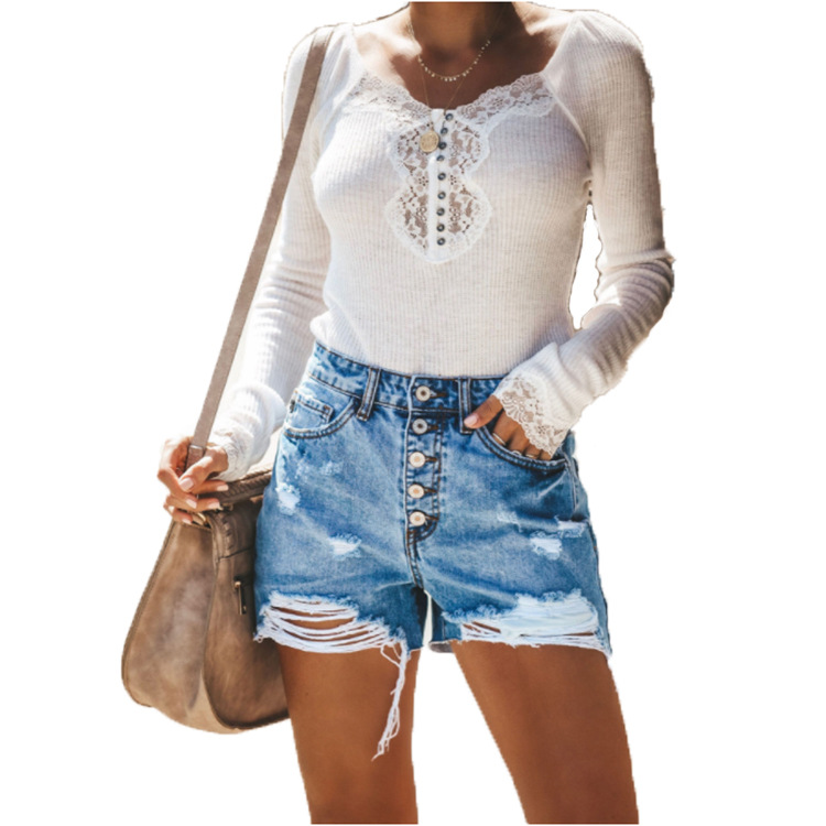 Women Casual Denim Shorts Shredded Jeans Sexy Summer Short Pants Plus Size Slim Pantalones Cortos De Mezclilla Ropa Mujer 2019