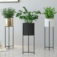 70cm tall standing shelf for flower pot with flowerpot & Living room large vase