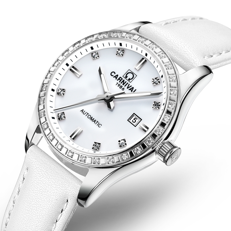Здесь продается  Switzerland Carnival Women Watches Luxury Brand ladies Automatic Mechanical Watch Women Waterproof relogio feminino 8685L-10  Часы