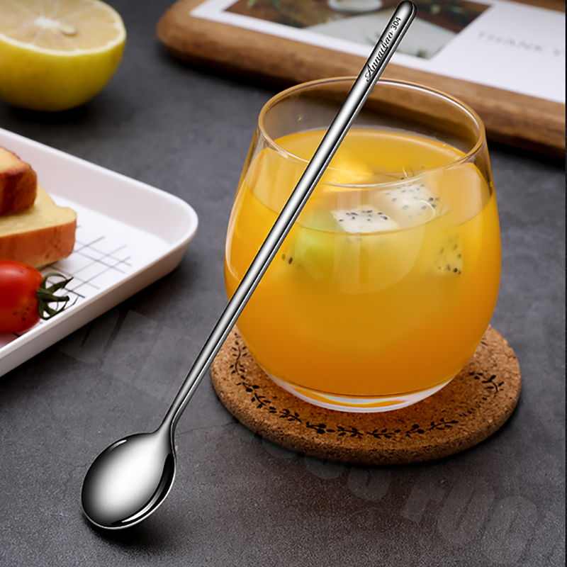 4PCs Set Creative 304 Stainless Steel Coffee Spoon Ice Cream Dessert Tea Honey Cappuccino Jelly Stirring Scoop Tableware