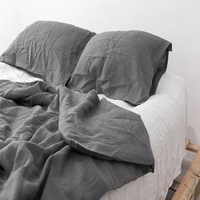 3pcs Real 100% Flax Linen Duvet Cover Set Duvet Bedding King Bed Sheet Set French Linen Bedding Sets Sheets Pillowcases Shams
