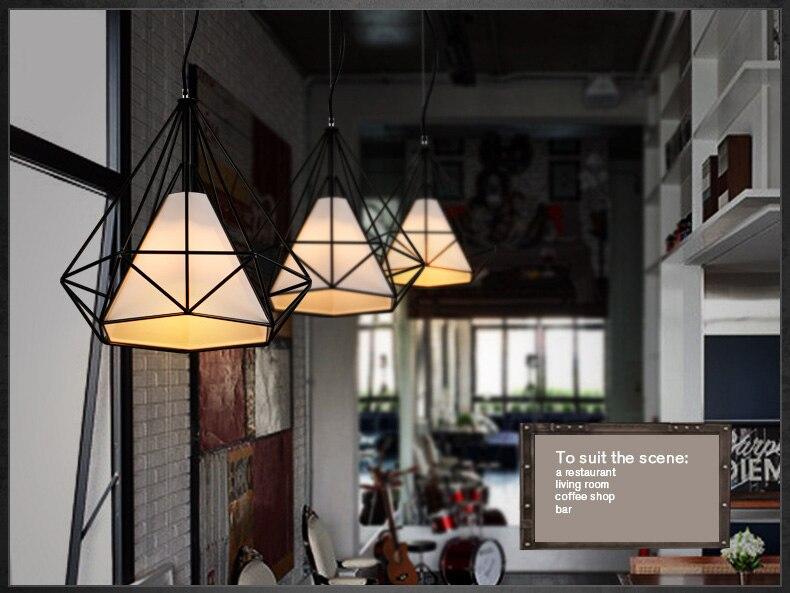 Us 39 68 37 Off Loft Lamp Vintage Pendant Light Led Lights Balck Iron Metal Cage Lampshade Warehouse Style Lighting E27 Fixture In