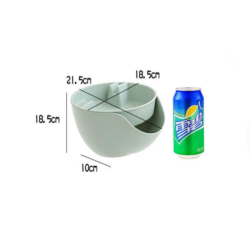 Image 4 - 利便性二重層スナックナッツ収納ボックスごみホルダープレート皿オーガナイザープラスチックドライフルーツ容器 -    グループ上の ホーム&ガーデン からの 収納ボックス & ビン の中