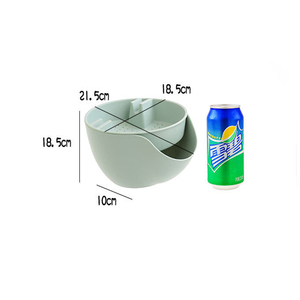 Image 4 - Convenience Double Layer Snacks Nuts Storage Box Garbage Holder Plate Dish Organizer Plastic Dry Fruit Containers