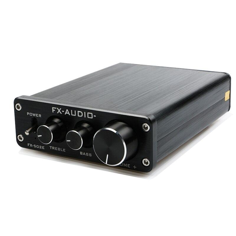 FX-Audio FX502E Hifi 2,0 настольный компьютер Динамик высокое Мощность чистый цифровой аудио усилитель NE5532P Мощность Выход 68 Вт * 2