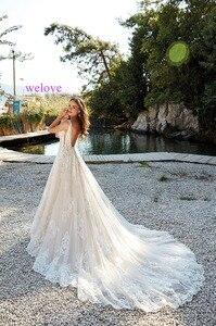 Image 2 - Robe de mariee New arrival 2020 New Summer Beach Wedding Dress with Straps White Open Back Wedding Dresses Vestige De Noiva
