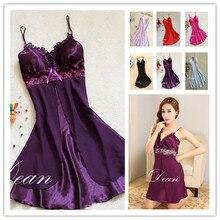 2923 /1010 fashion sexy women Lingerie Nightgown casual ladies sleepwear nightdress camisola vestidos femininos nightie