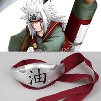 Very Good Qaulity New Naruto Leaf Village Jiraiya Fitting Headband headpiece Cosplay Accessory Christmas Party