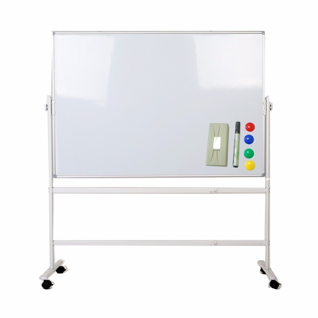 Us 339 8 Zhidian Office 48 36inch Mobile Double Sided Magnetic White Dry Erase Boards Stand Easel 2 Marker Color Magnet 4 Eraser 1 Includ In