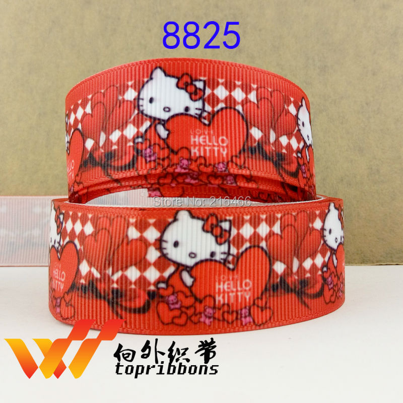 Free shipping  2015 new arrival Hair Accessories ribbon 10 yards flower ribbons printed grosgrain ribbons 8825