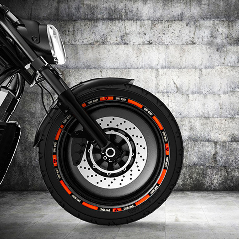 SPIRIT BEAST Motorcycle Sticker Wheel Pegatinas Moto Tank Pad Motocross Tires Sticker Motorcycle Autocollant Moto Sticker Decals