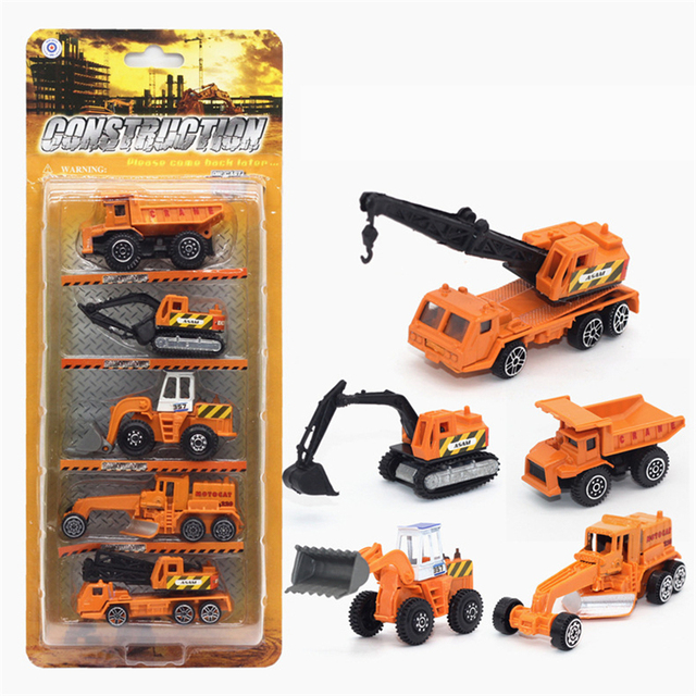 Mini Diecast Car Truck Transportation Car Alloy Vehicles Model Cheap Toy Car High Quality Gift Tractor China Toy Crane Kids Toys